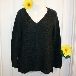 J. Jill XS Knit Sweater Midnight Blue Heather